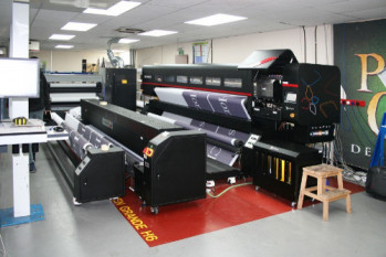 Our New Printers: Printing 168 football pitches worth of flags and banners a year